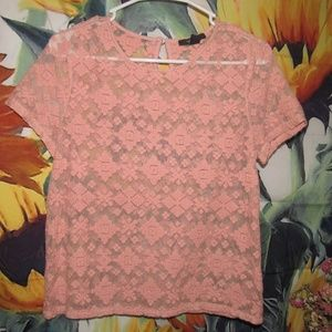 Pink Lace Shirt from Forever 21